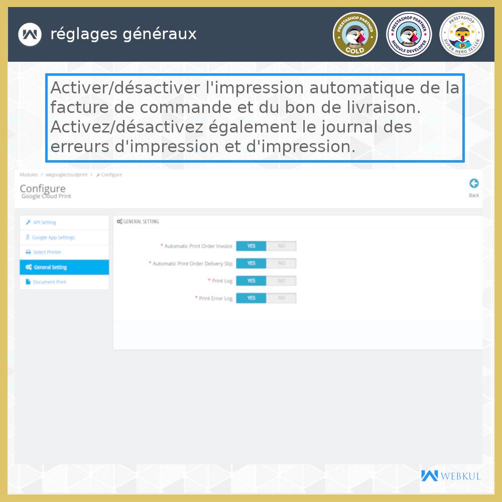 module - Préparation & Expédition - Google Cloud Print - 8