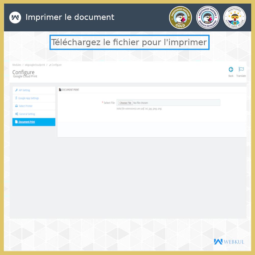 module - Préparation & Expédition - Google Cloud Print - 9
