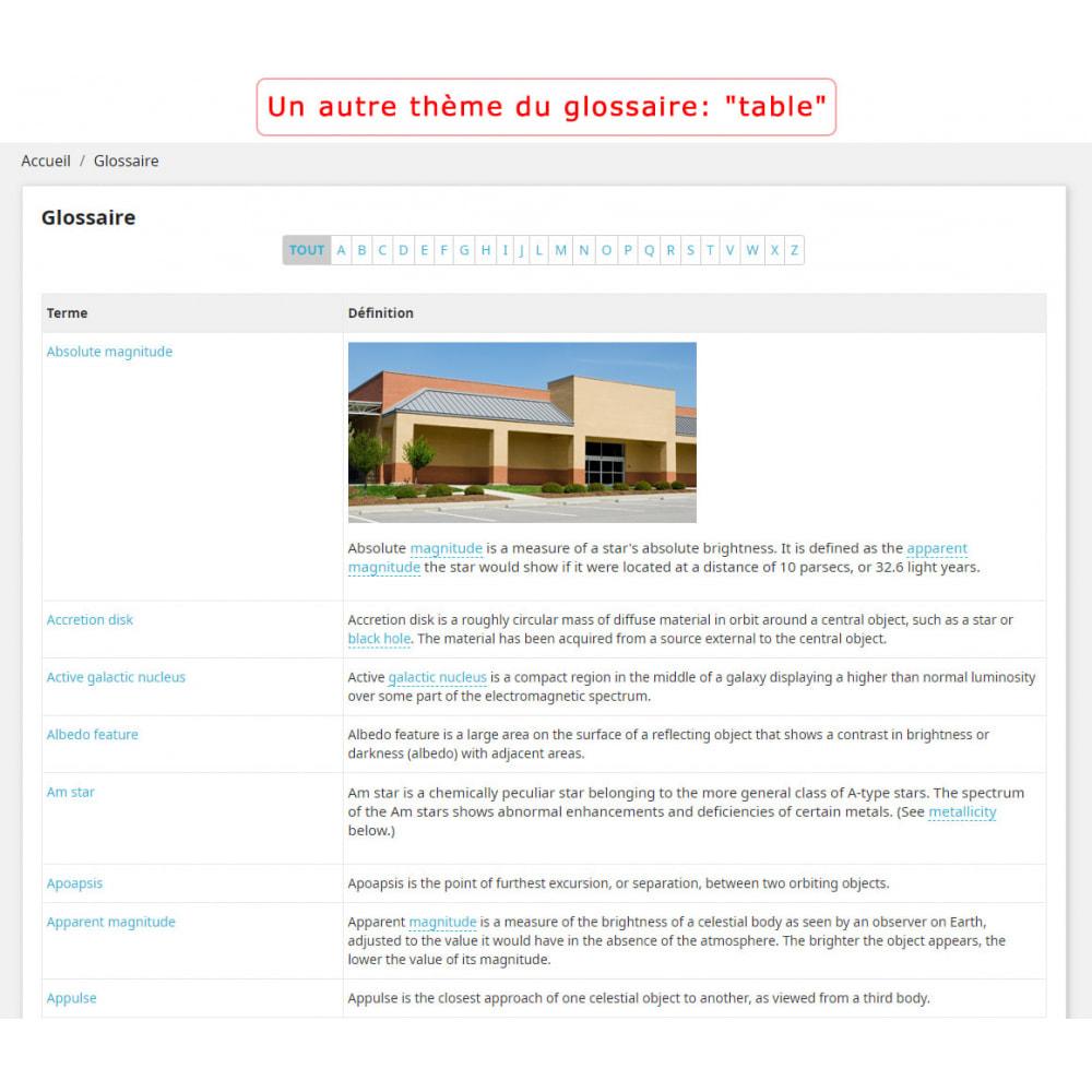 module - Personnalisation de Page - Super Glossaire - 3