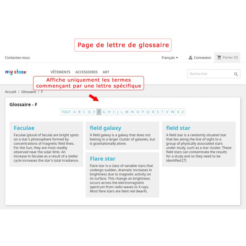 module - Personnalisation de Page - Super Glossaire - 6