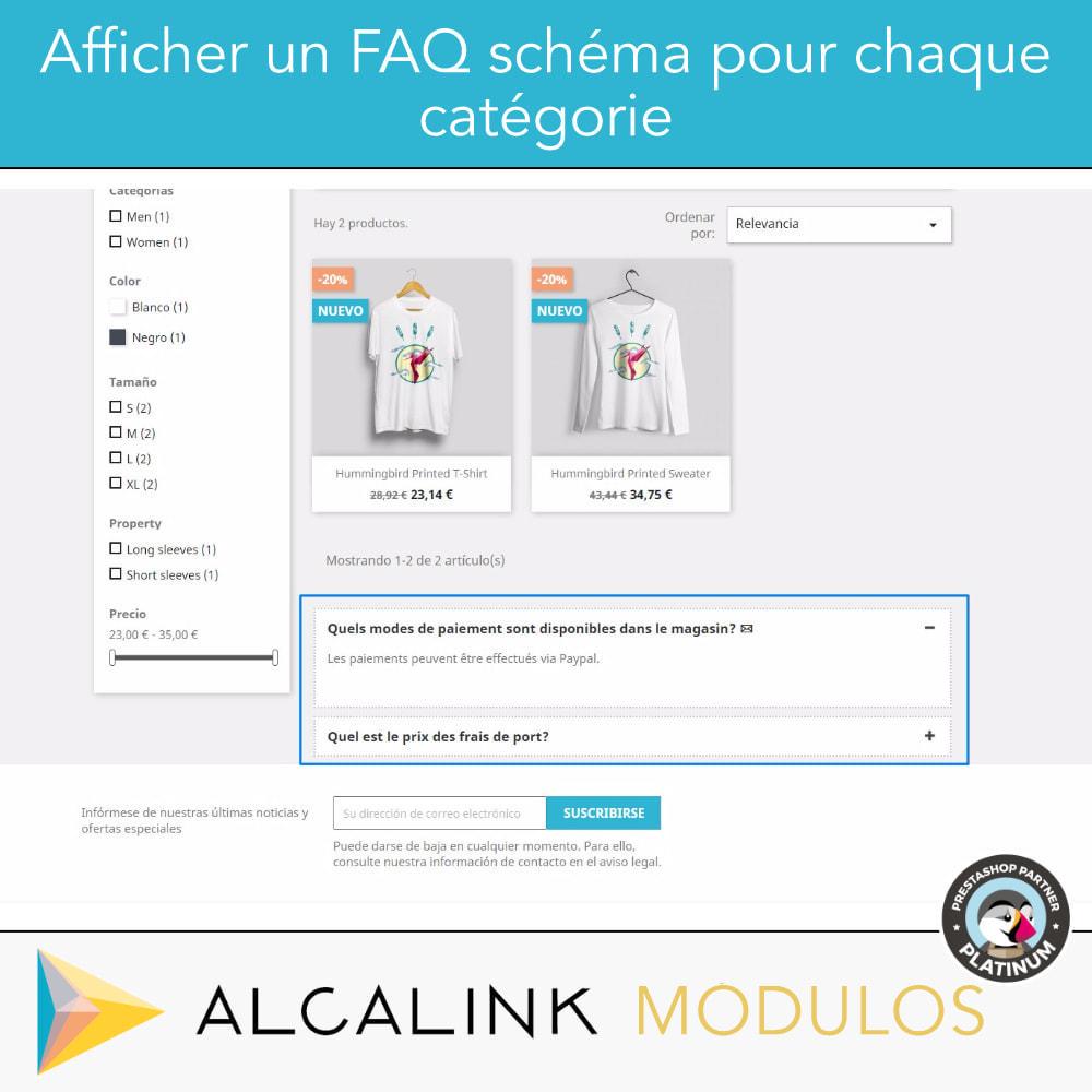 module - FAQ (questions fréquentes) - FAQ Schéma dans les catégories - SEO spécial Google - 2