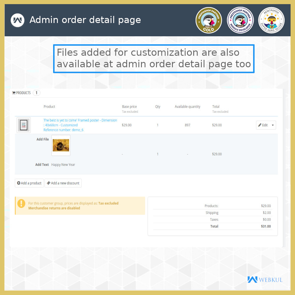 module - Registration & Ordering Process - Add Product with Customization Directly into Cart - 8