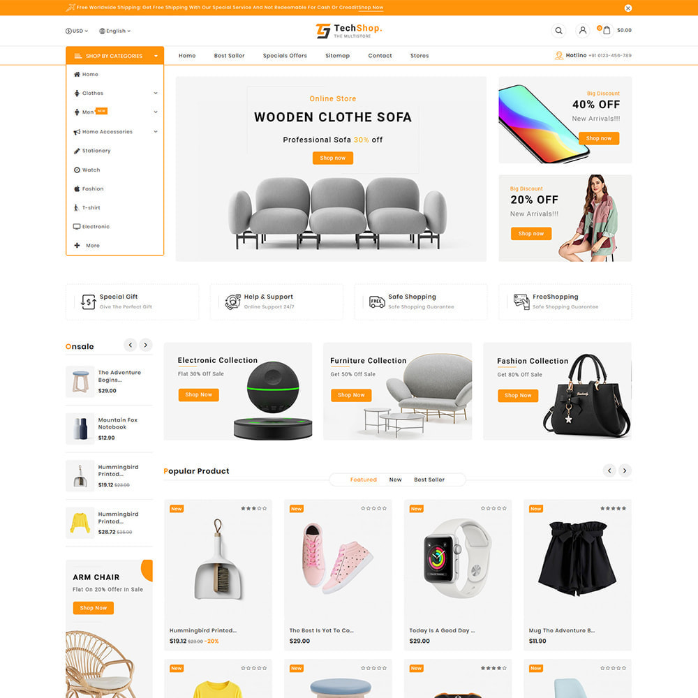 theme - Электроника и компьютеры - TechShop  - New Shopping Supermarket Store - 4