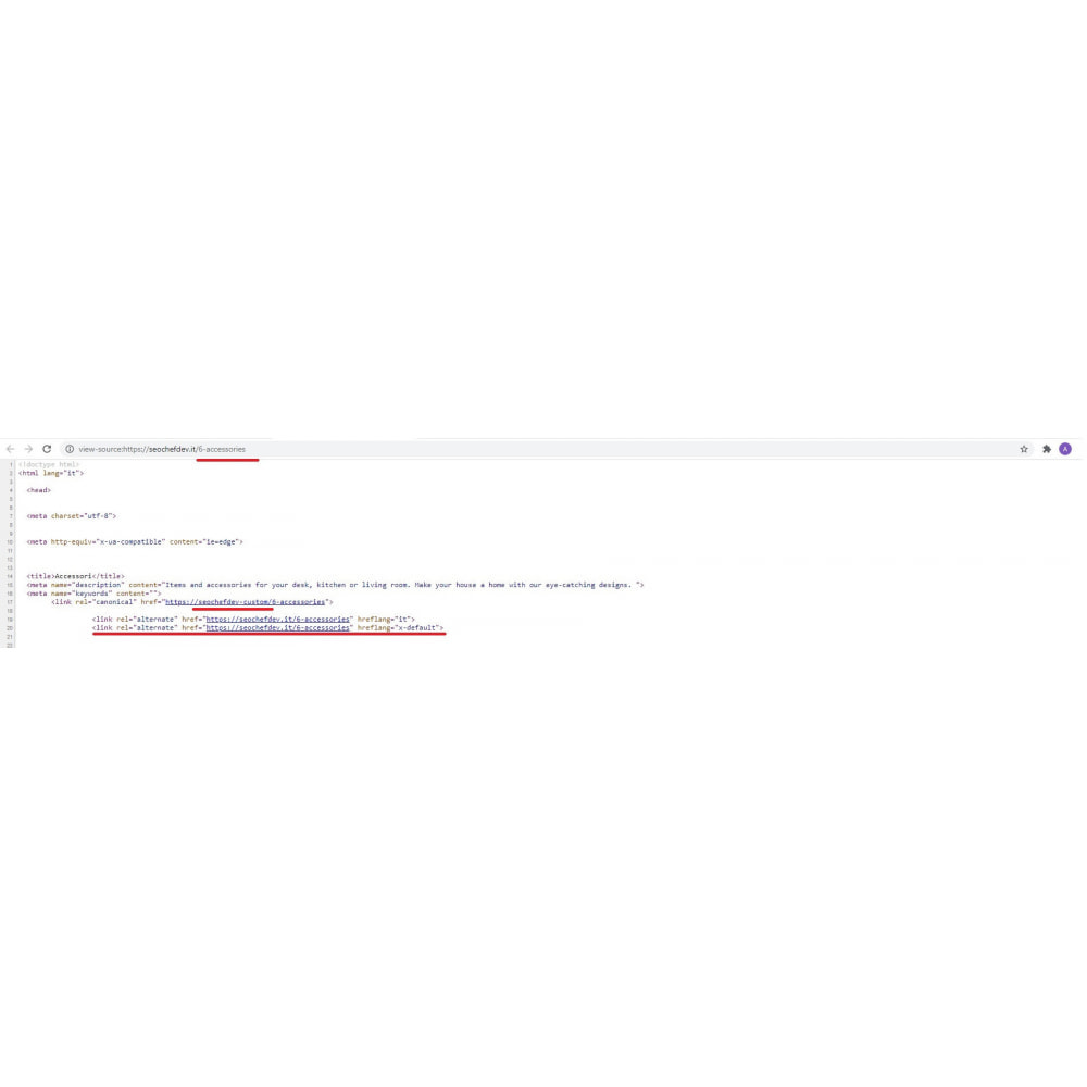 module - SEO (Posicionamiento en buscadores) - Canonical & Hreflang SEO module - 3