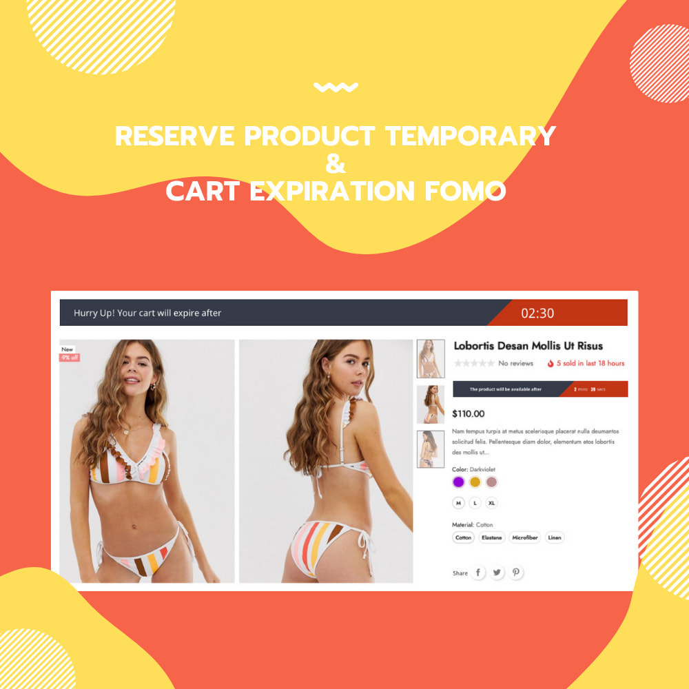 module - Remarketing & Shopping Cart Abandonment - Reserve Product Temporary & Cart Expiration FOMO - 1