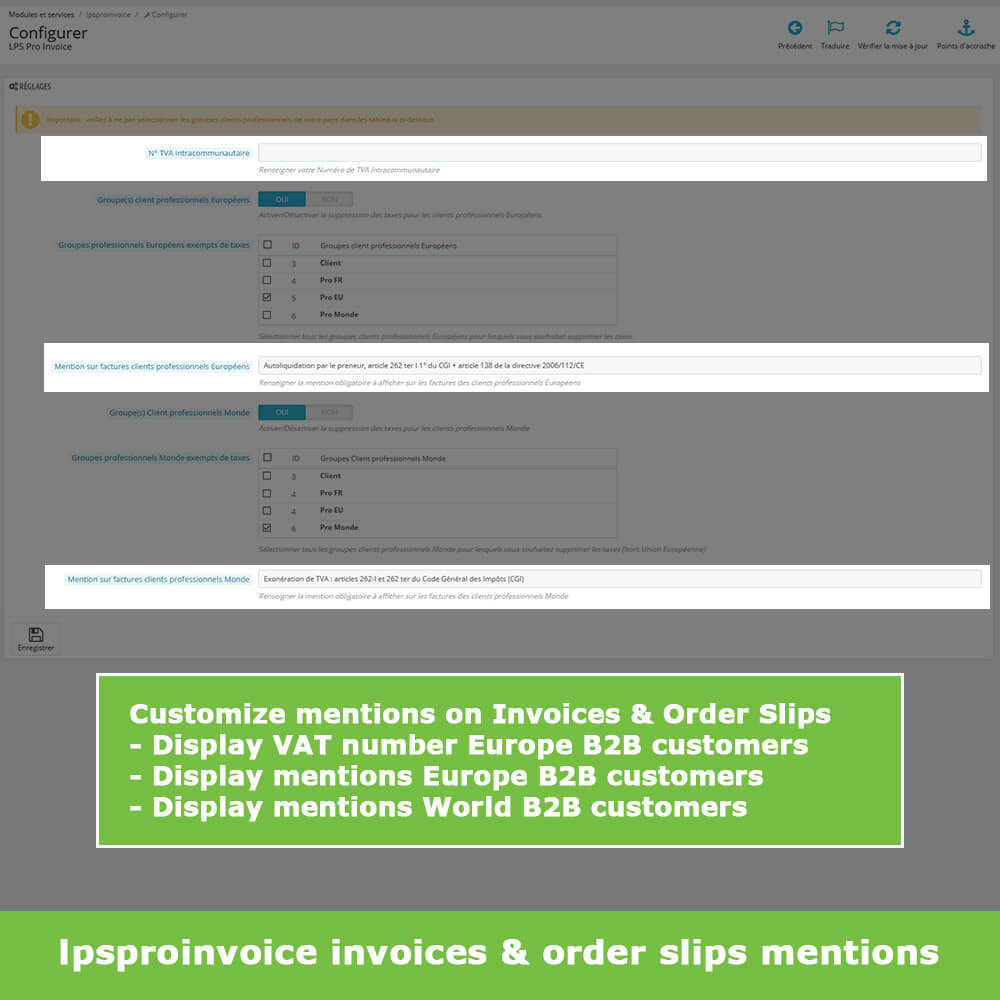 module - Contabilità & Fatturazione - B2B Invoicing - Remove Tax (without VAT / Tax excl) - 5