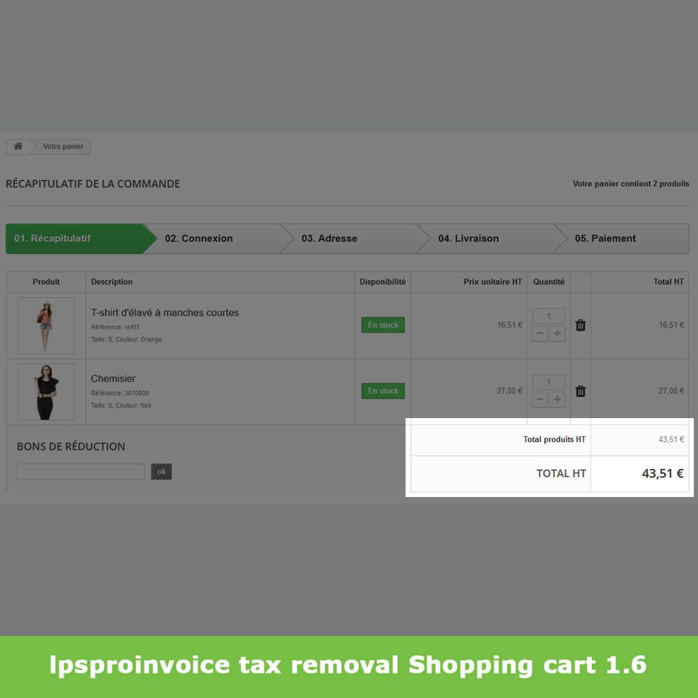 module - Buchhaltung & Rechnung - B2B Invoicing - Remove Tax (without VAT / Tax excl) - 7