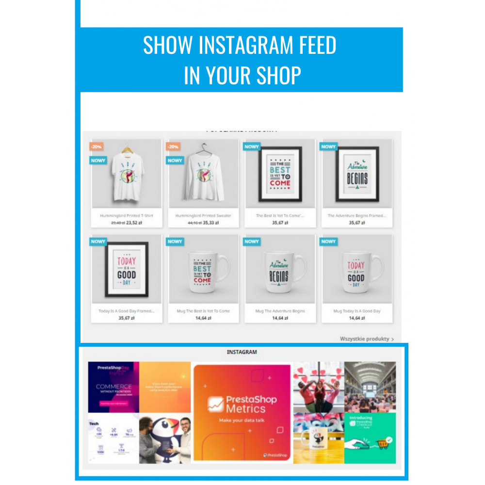 module - Products on Facebook & Social Networks - Insta Feed - instagram feed in your shop - 2