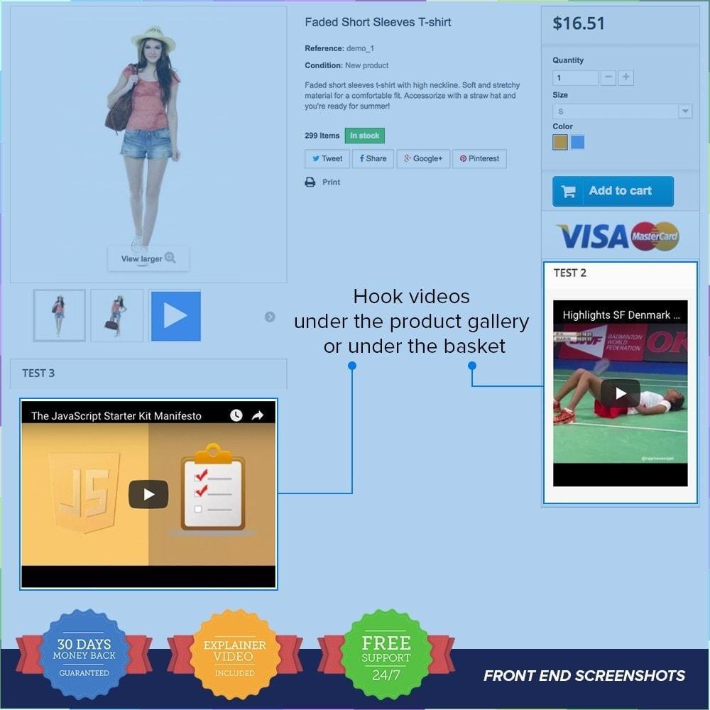 module - Vídeos y Música - Product Videos PRO - Youtube, Vimeo and Custom Video - 3