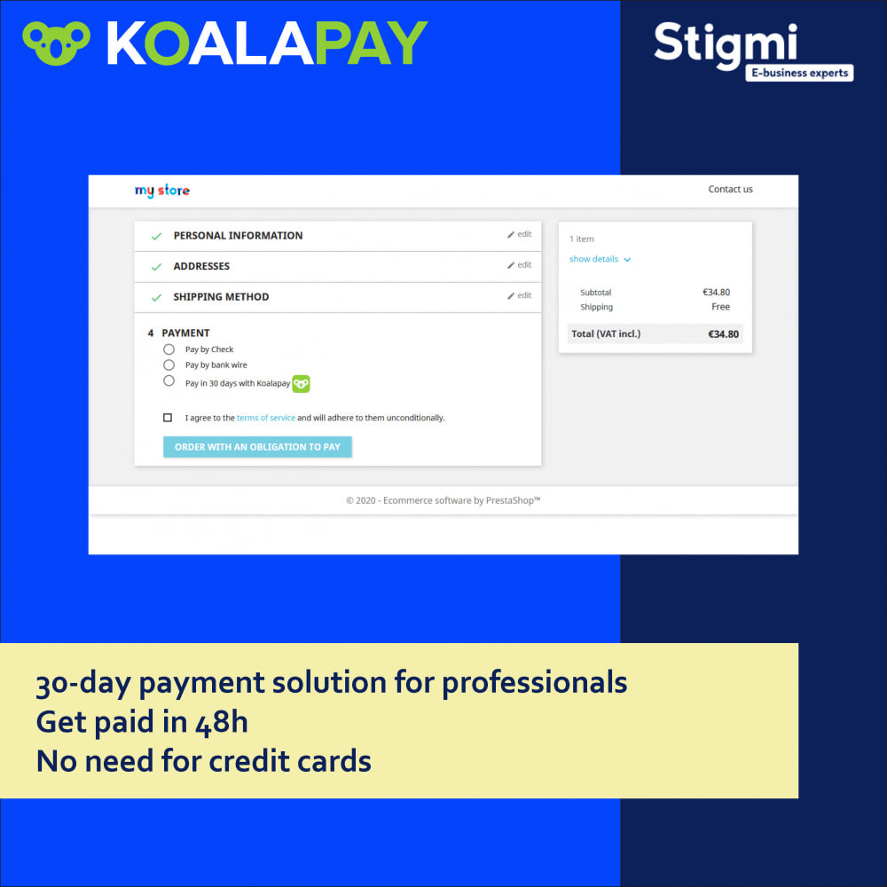 module - Betaling per Factuur - KoalaPay – 30-day B2B payment & invoice factoring - 1