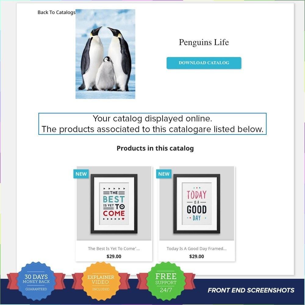 module - Information supplémentaire & Onglet produit - Catalogue PDF sur la page produit - 3