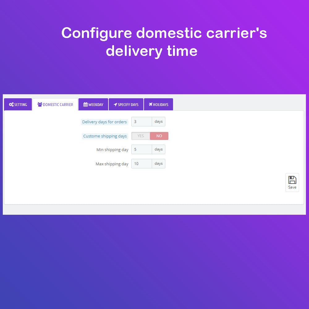 module - Fecha de entrega - Fecha estimada de entrega & Entrega programada PRO - 9