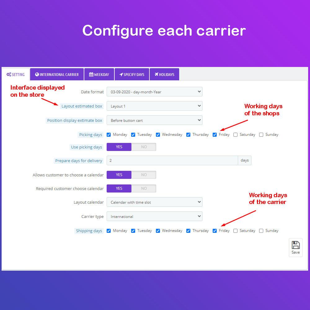 module - Data di Consegna - Fecha estimada de Entrega & Scheduled Delivery PRO - 5