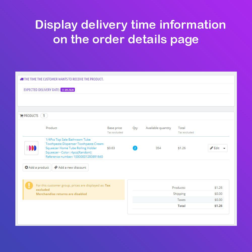 module - Data di Consegna - Fecha estimada de Entrega & Scheduled Delivery PRO - 11