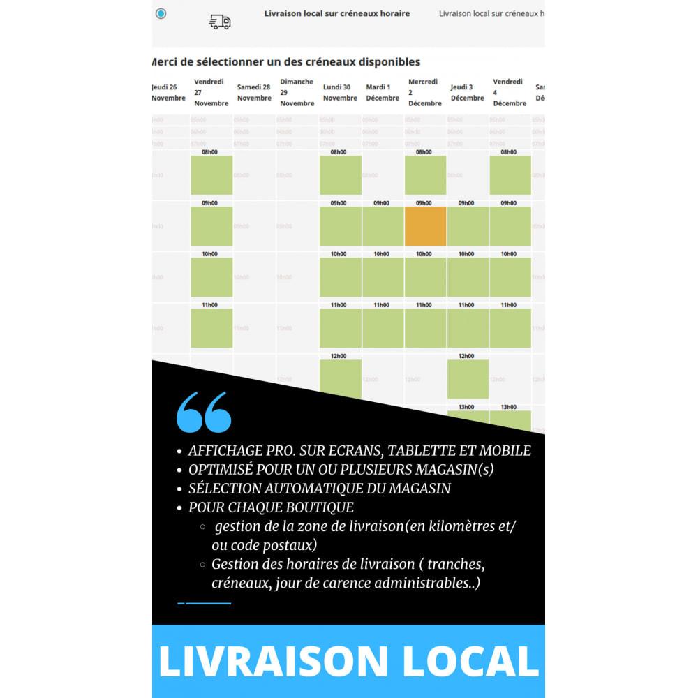 module - Transporteurs - Livraison locale sur créneaux par code postaux - 1