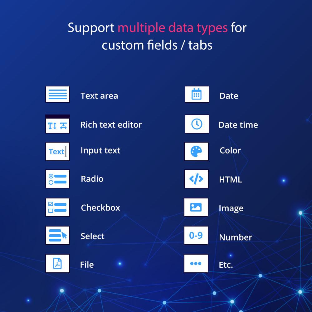 module - Dodatkowe informacje & Zakładka produktu - Custom fields & tabs on product page - 4