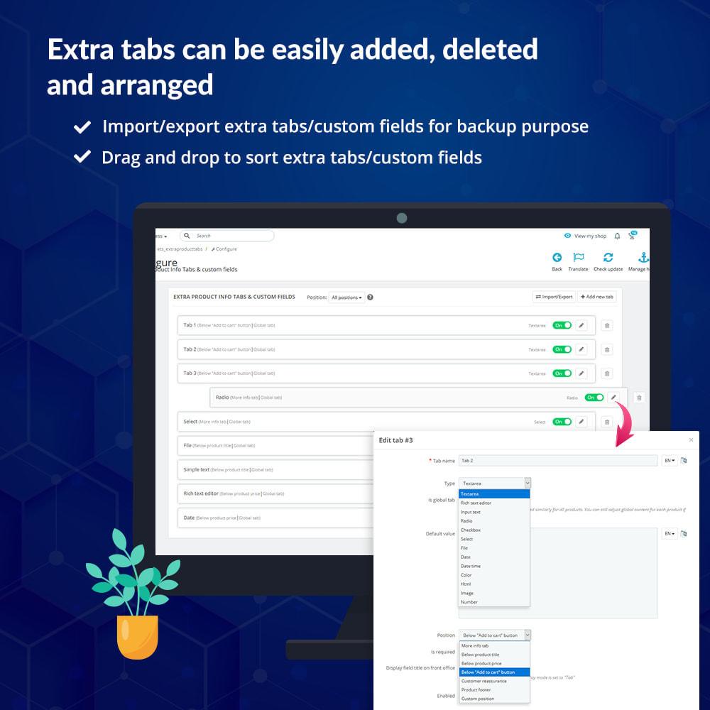 module - Dodatkowe informacje & Zakładka produktu - Custom fields & tabs on product page - 6
