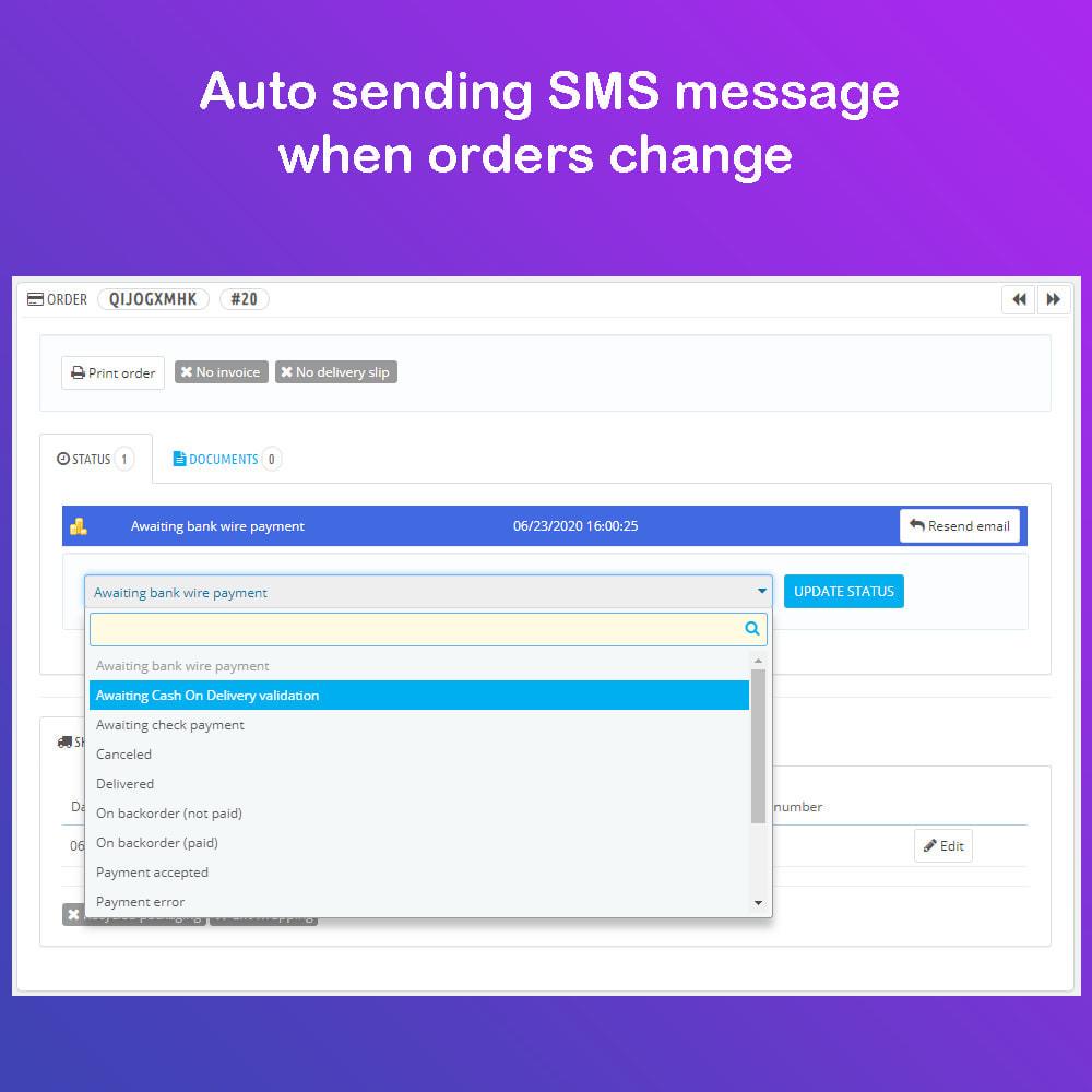 module - Newsletter y SMS - SMS Service PRO - Login/Reset Password - Pedido por SMS - 10