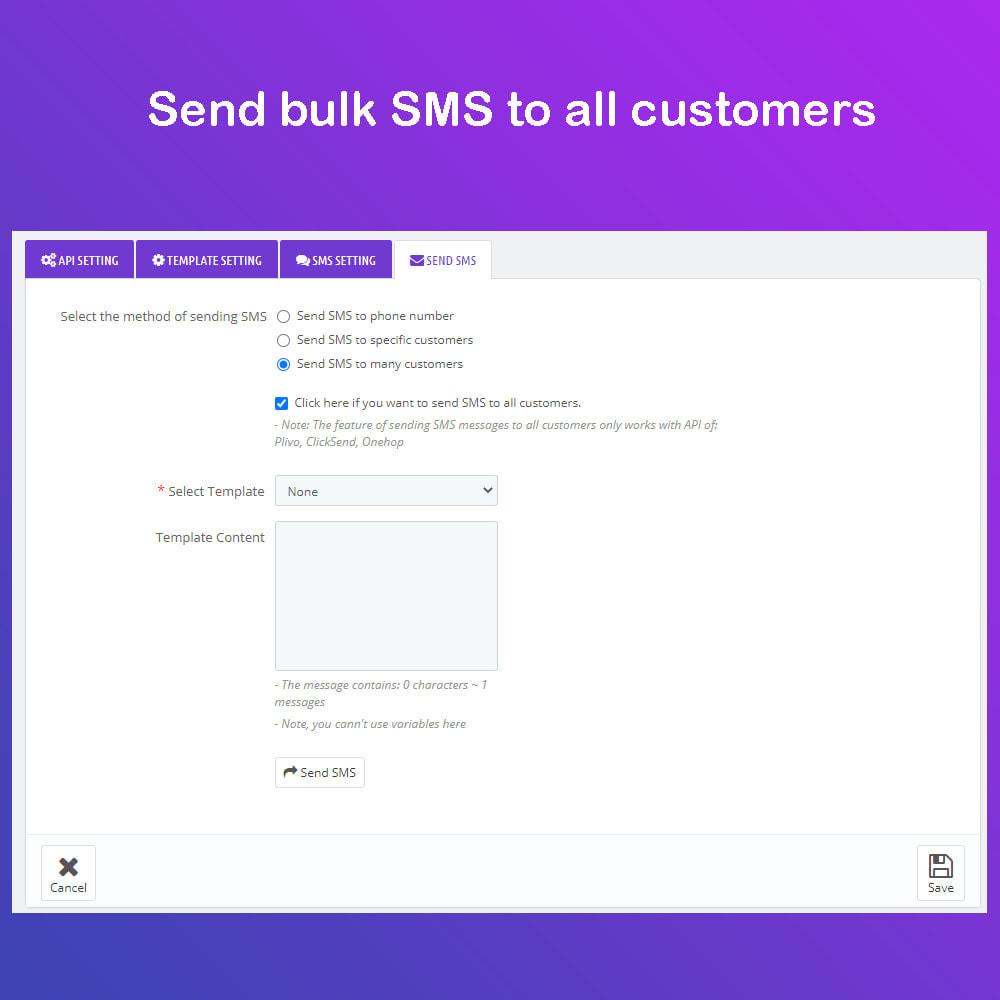 module - Newsletter & SMS - SMS Service PRO - Login/Reset password - Ordine via SMS - 8