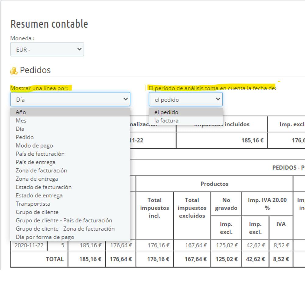 module - Contabilidad y Facturas - Síntesis contable para declaración de IVA - 2