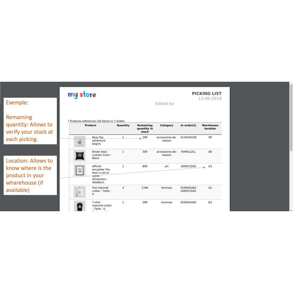 module - Preparación y Envíos - Pickinglist - lista de productos para enviar - 4