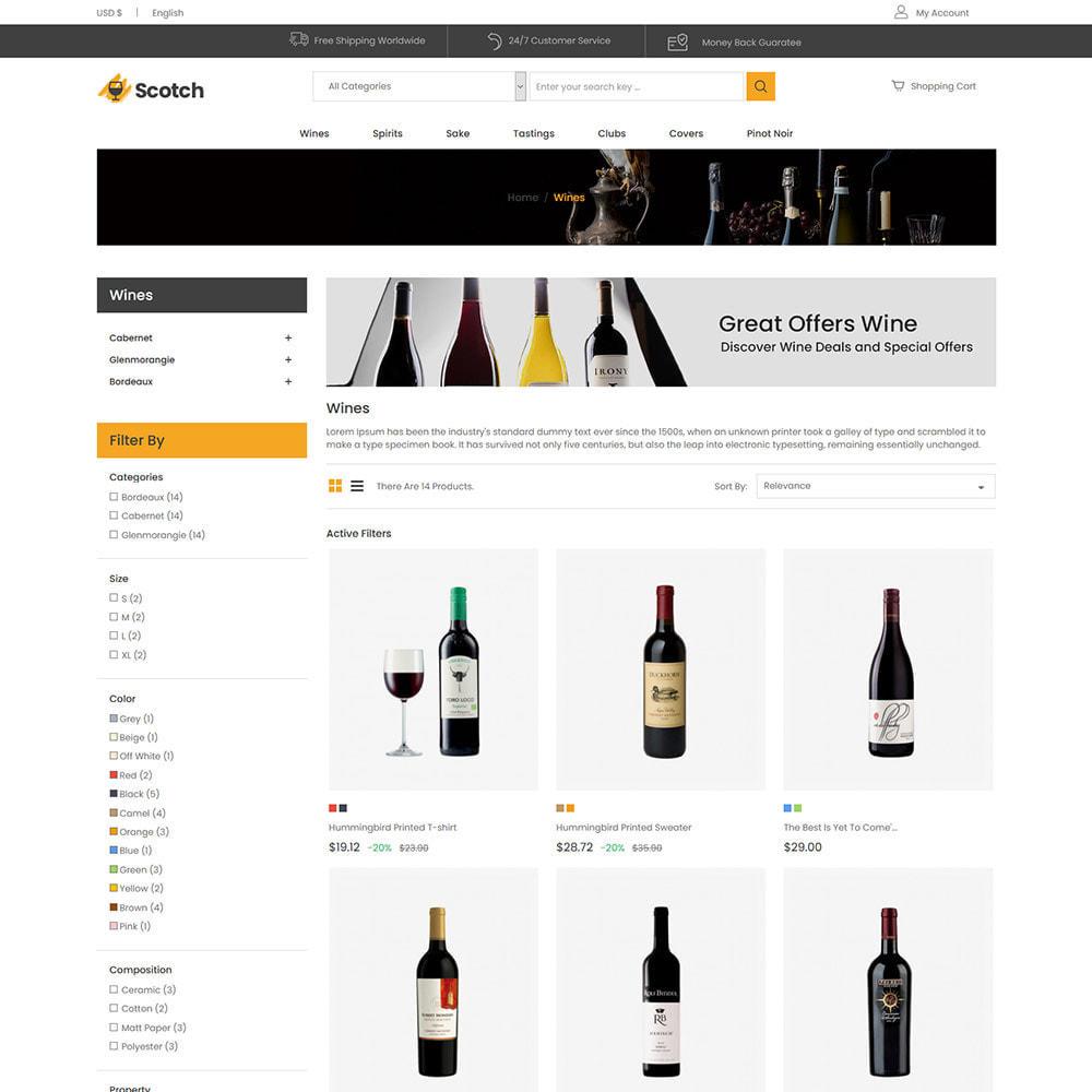 theme - Напитки и с сигареты - Scotch Wine -  Alcoholic drink Store - 3