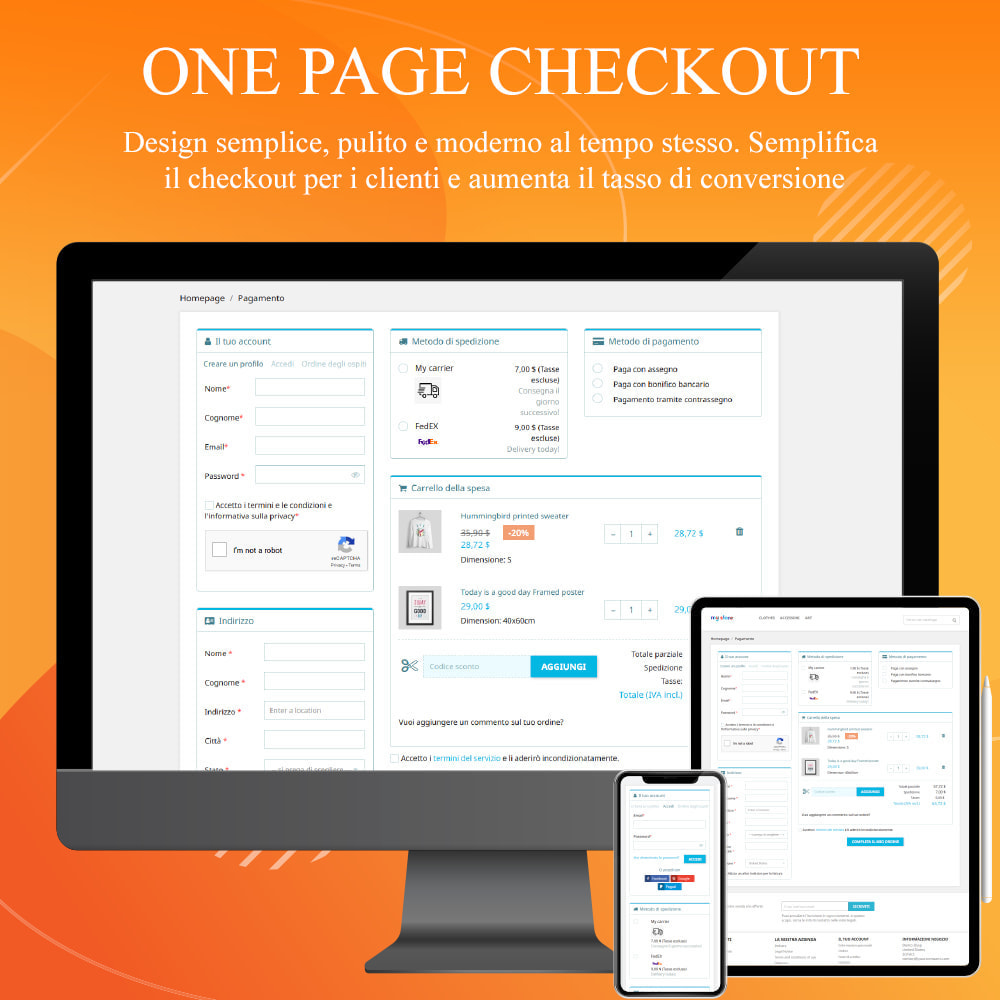 module - Express Checkout - ONE PAGE CHECKOUT - Veloce, Intuitivo & Professionale - 2