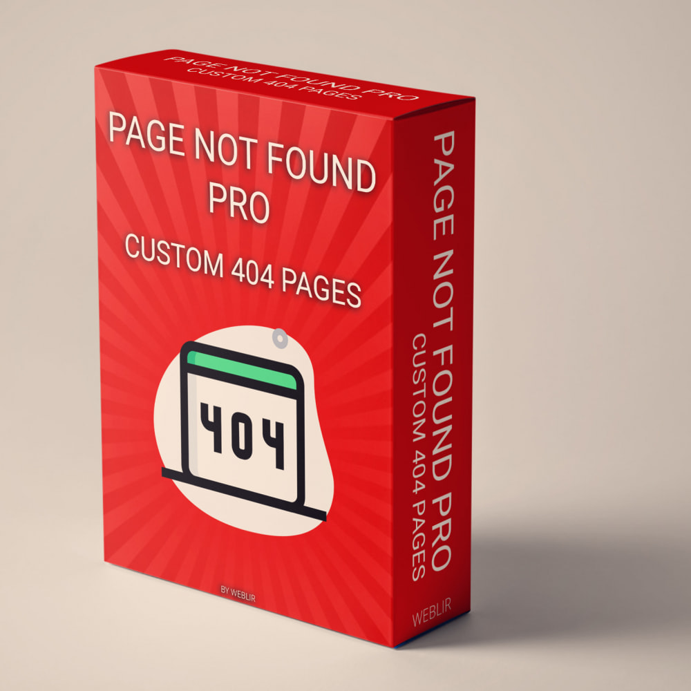module - Outils de navigation - Page not found Pro - Custom 404 pages - 1