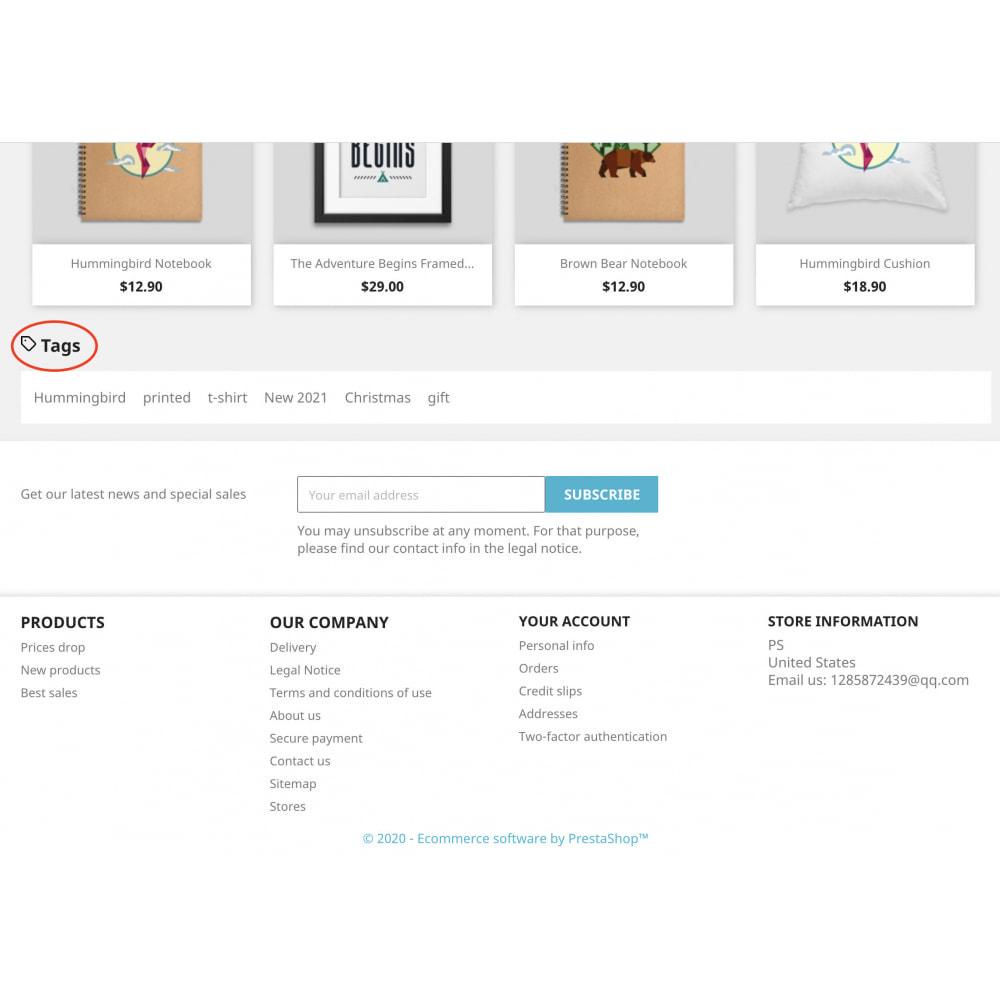 module - Information supplémentaire & Onglet produit - Advanced Product Tags Pro | SEO internal link promotion - 7