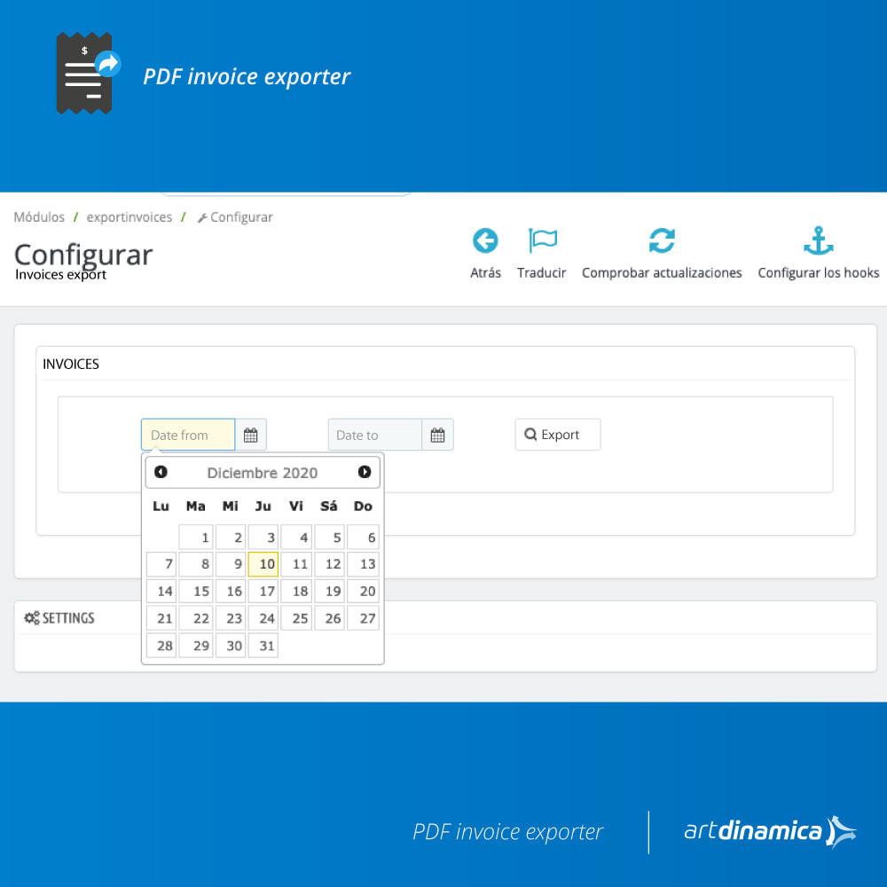 module - Contabilidad y Facturas - Exportación de facturas formato Excel, CSV - 3