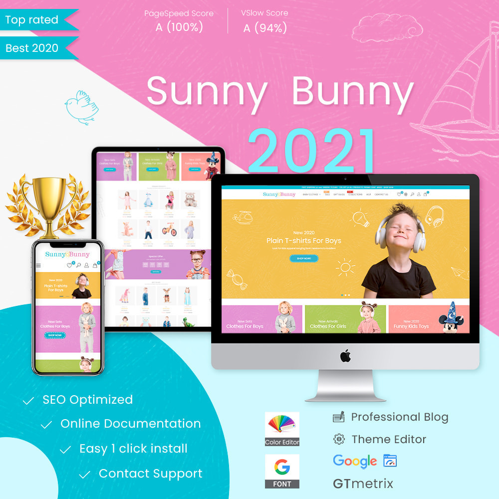 Bonpresta Prestashop Kids & Toyst Template