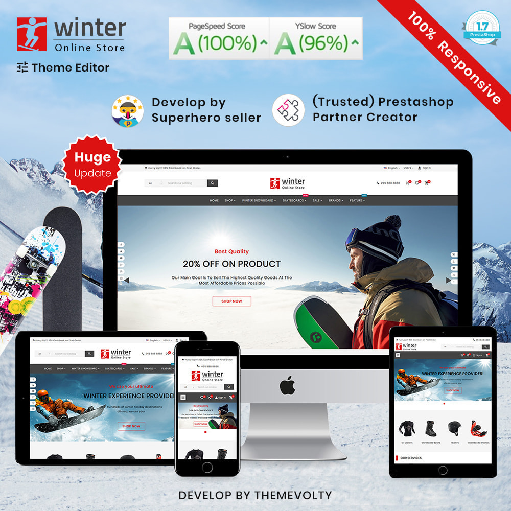 theme - Sport, Activiteiten & Reizen - Winter Skateboard–Bike & Travel–Sport Shop - 1