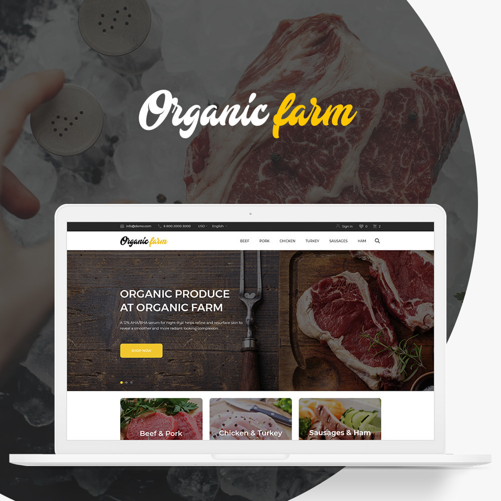 theme - Alimentation & Restauration - Organic farm - 1
