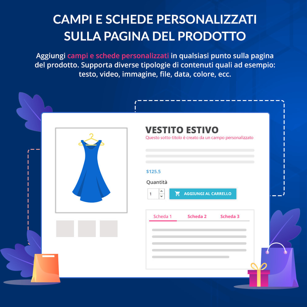 module - Altre informazioni & Product Tab - Campi e schede personalizzati sulla pagina del prodotto - 1