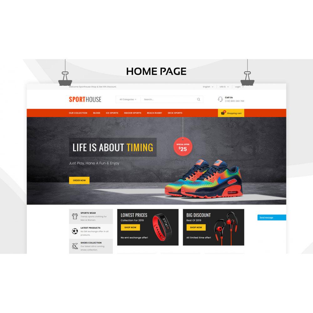 theme - Deportes, Actividades y Viajes - Sport House Tienda de deportes en línea - 5