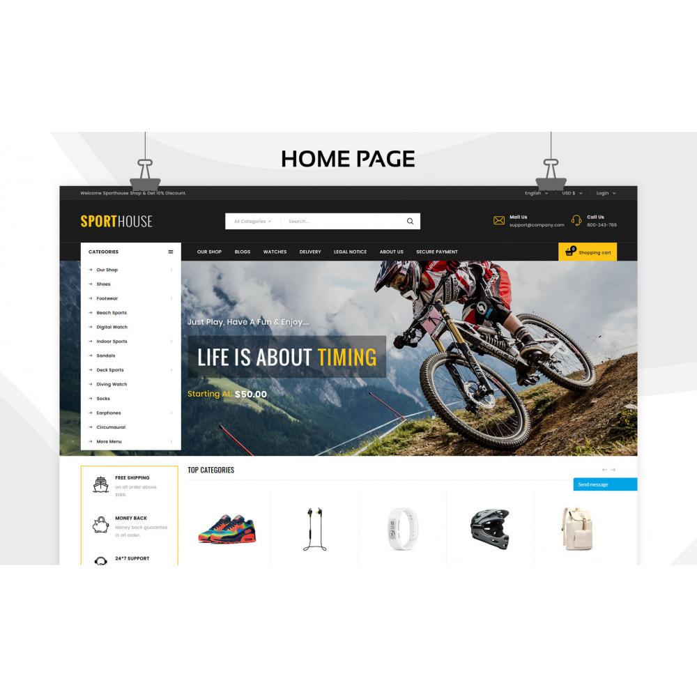 theme - Deportes, Actividades y Viajes - Sport House Tienda de deportes en línea - 6