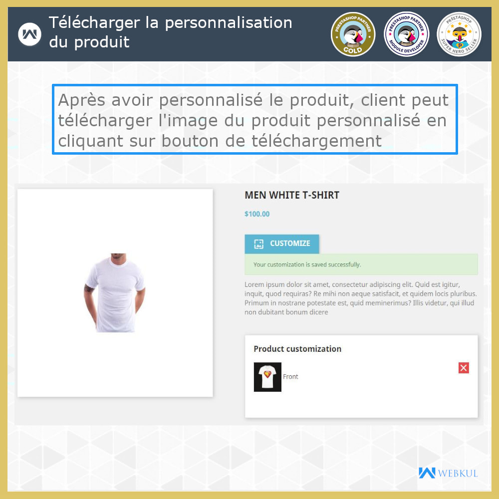 module - Déclinaisons & Personnalisation de produits - Web à Imprimer - Personnaliser le Produit - 6