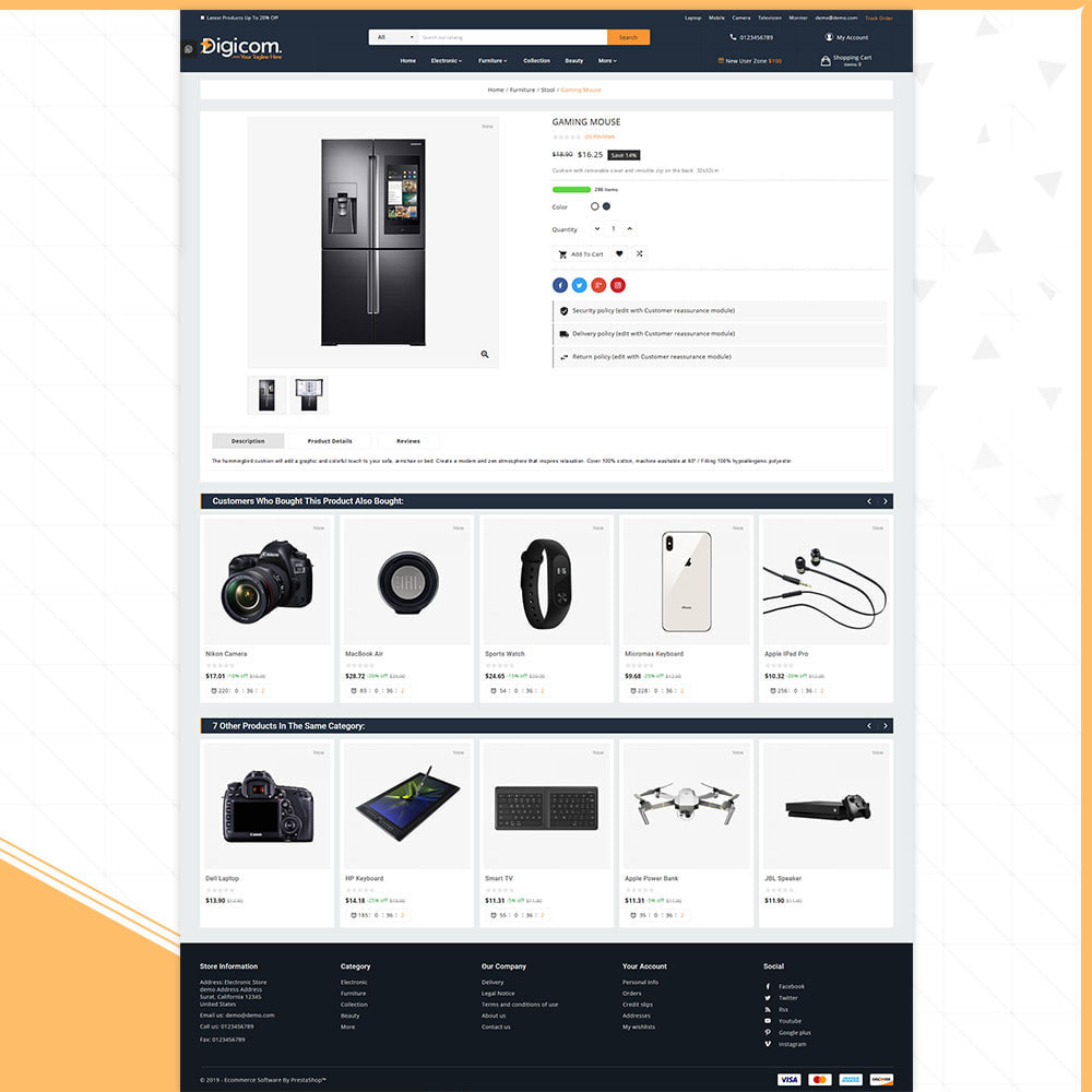 theme - Elektronik & High Tech - Digital Digicom-Electronics Mega Store - 4