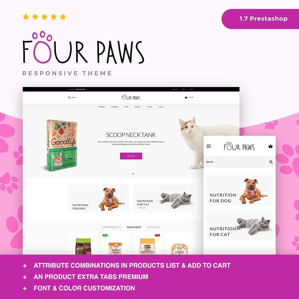theme - Animals & Pets - Four paws - 1