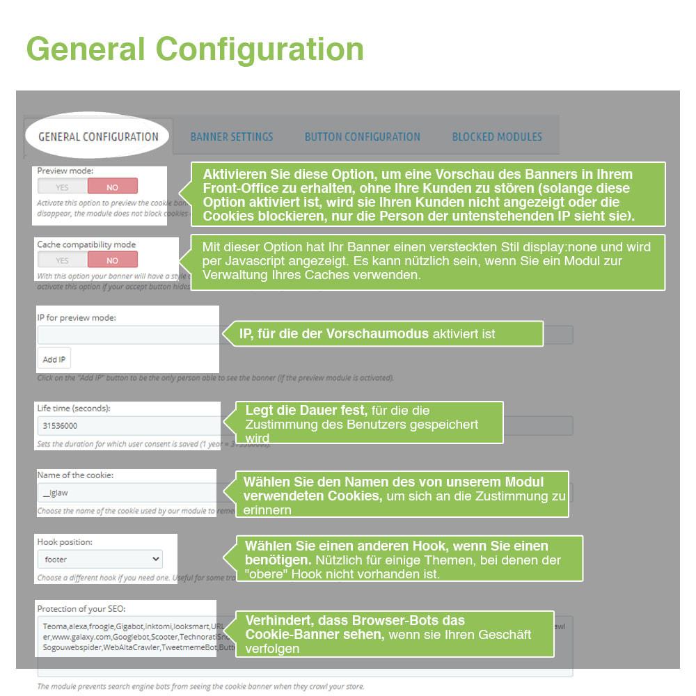 module - Rechtssicherheit - Cookie GDPR (Benachrichtigungs + Blocker) - 2020 Update - 12