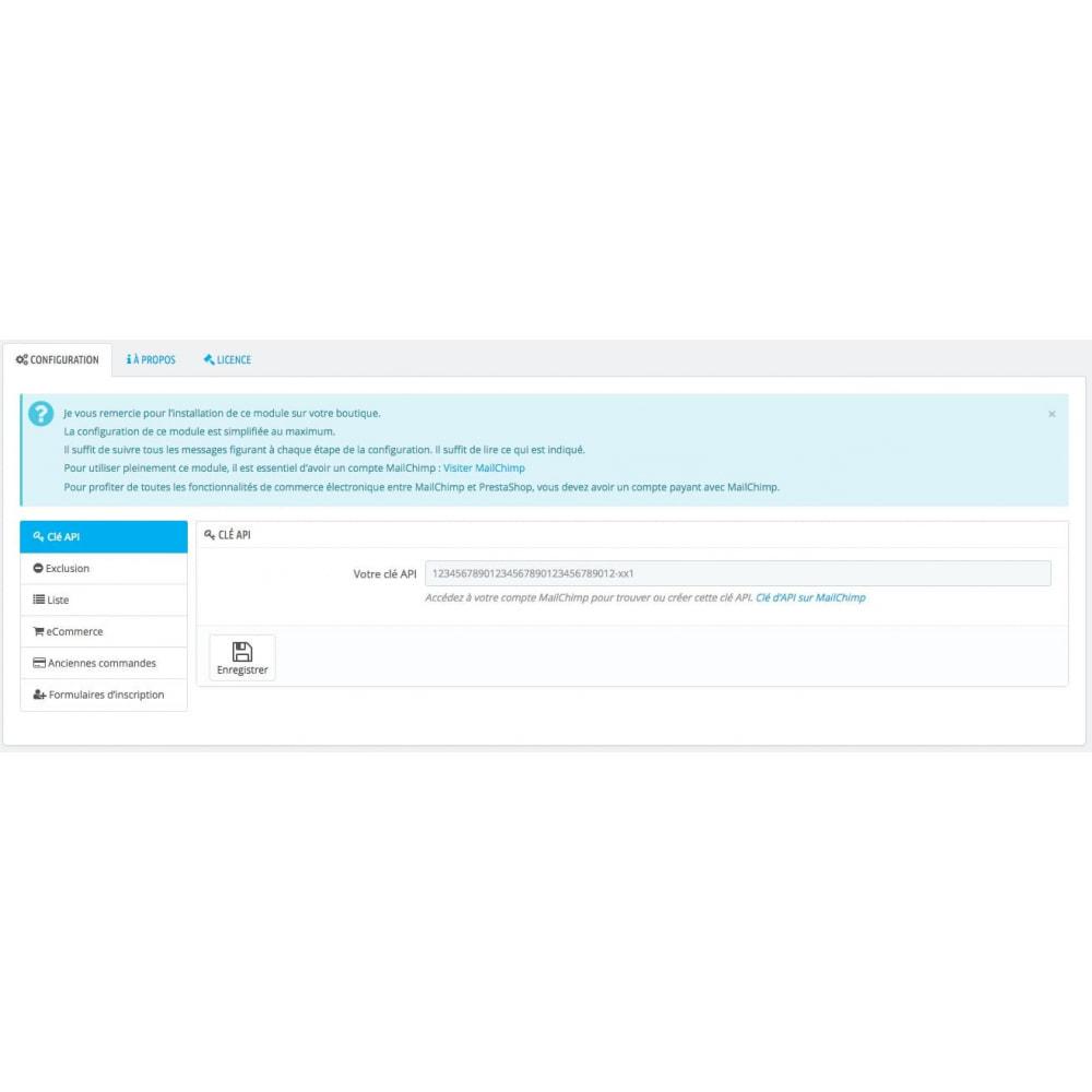 module - Newsletter & SMS - Synchronisation ultime de Prestashop© & MailChimp© - 2