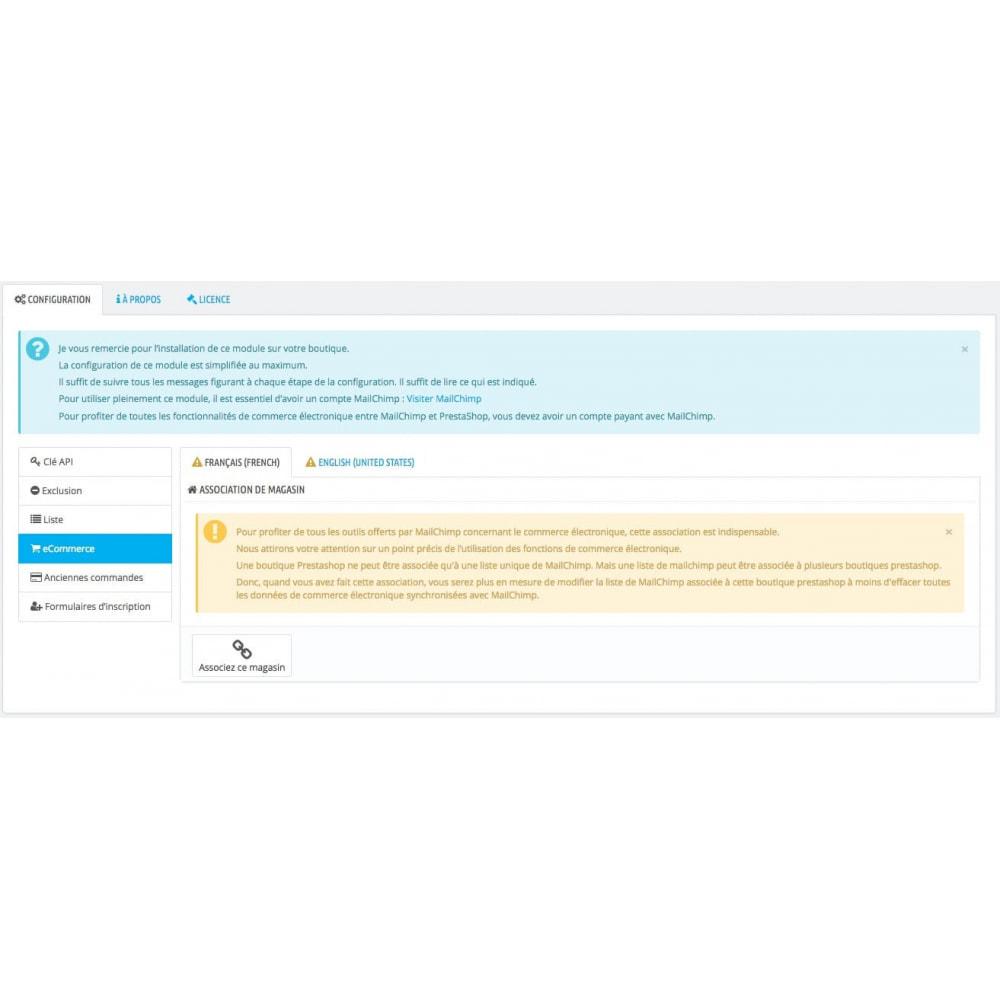 module - Newsletter & SMS - Synchronisation ultime de Prestashop© & MailChimp© - 6