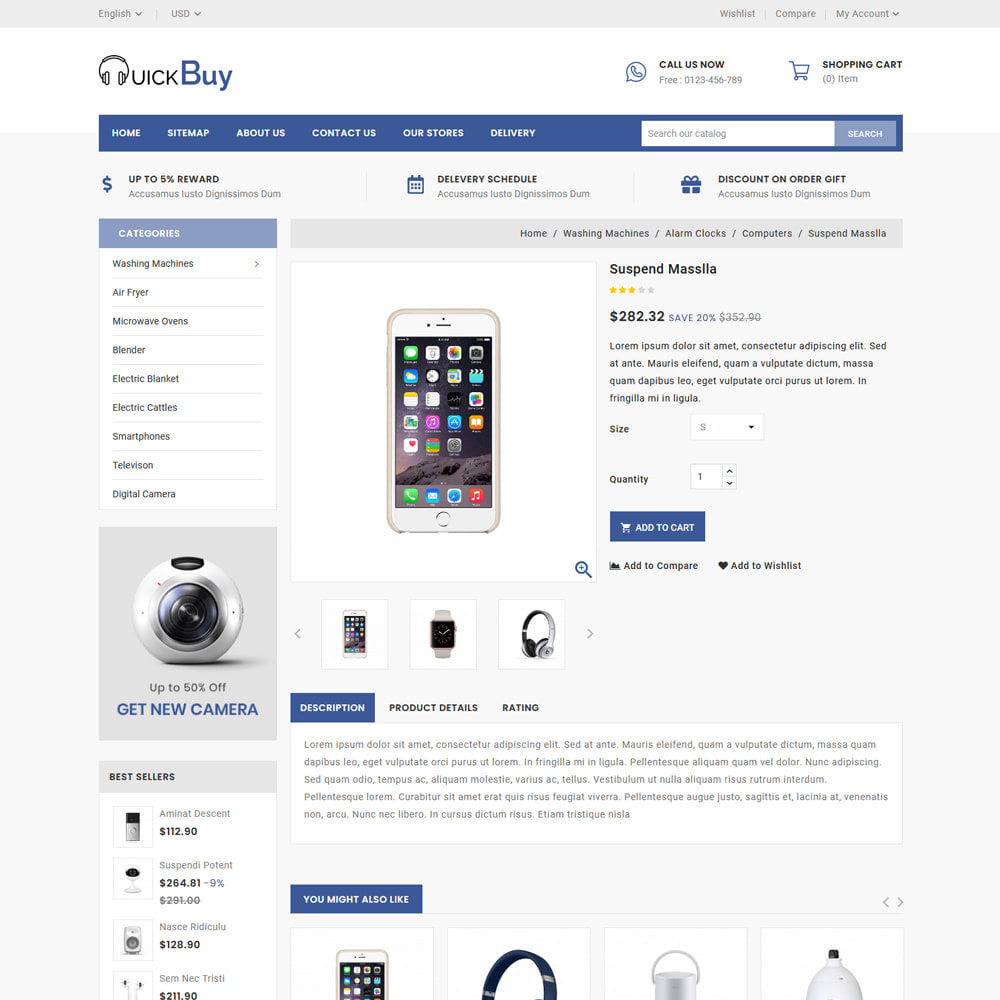 theme - Elettronica & High Tech - Quick Buy - Electronic Store - 4