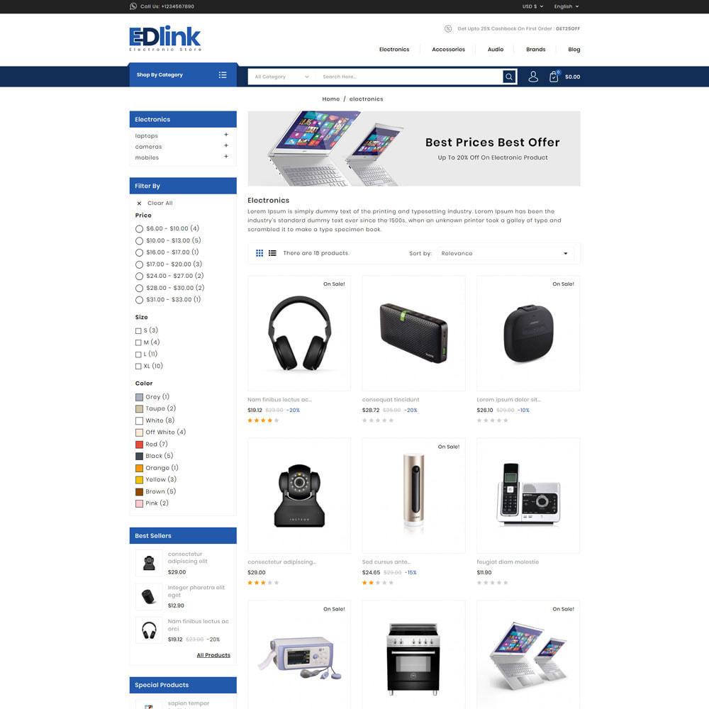 theme - Elektronika & High Tech - Edlink - Electronic Store - 3