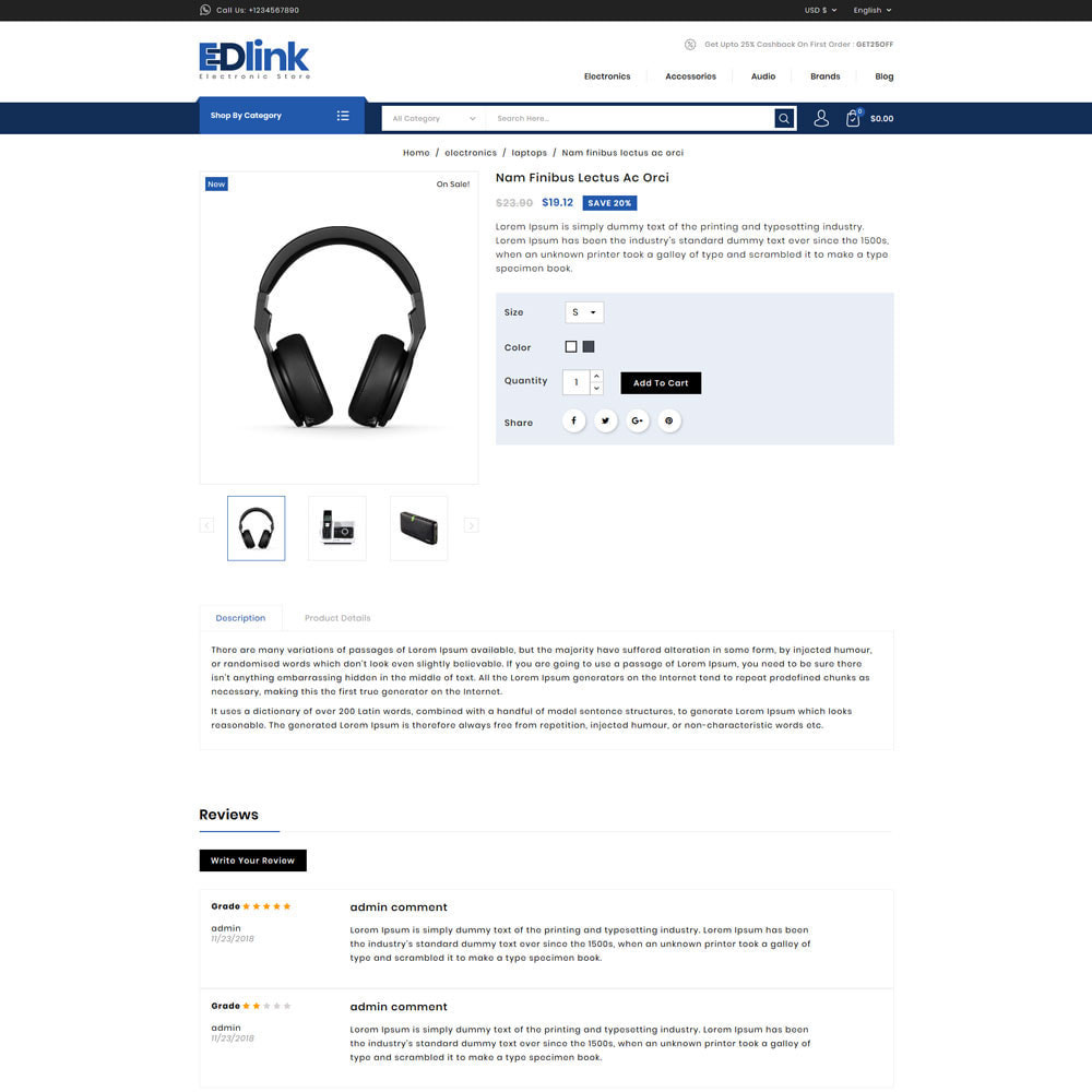 theme - Elektronika & High Tech - Edlink - Electronic Store - 4