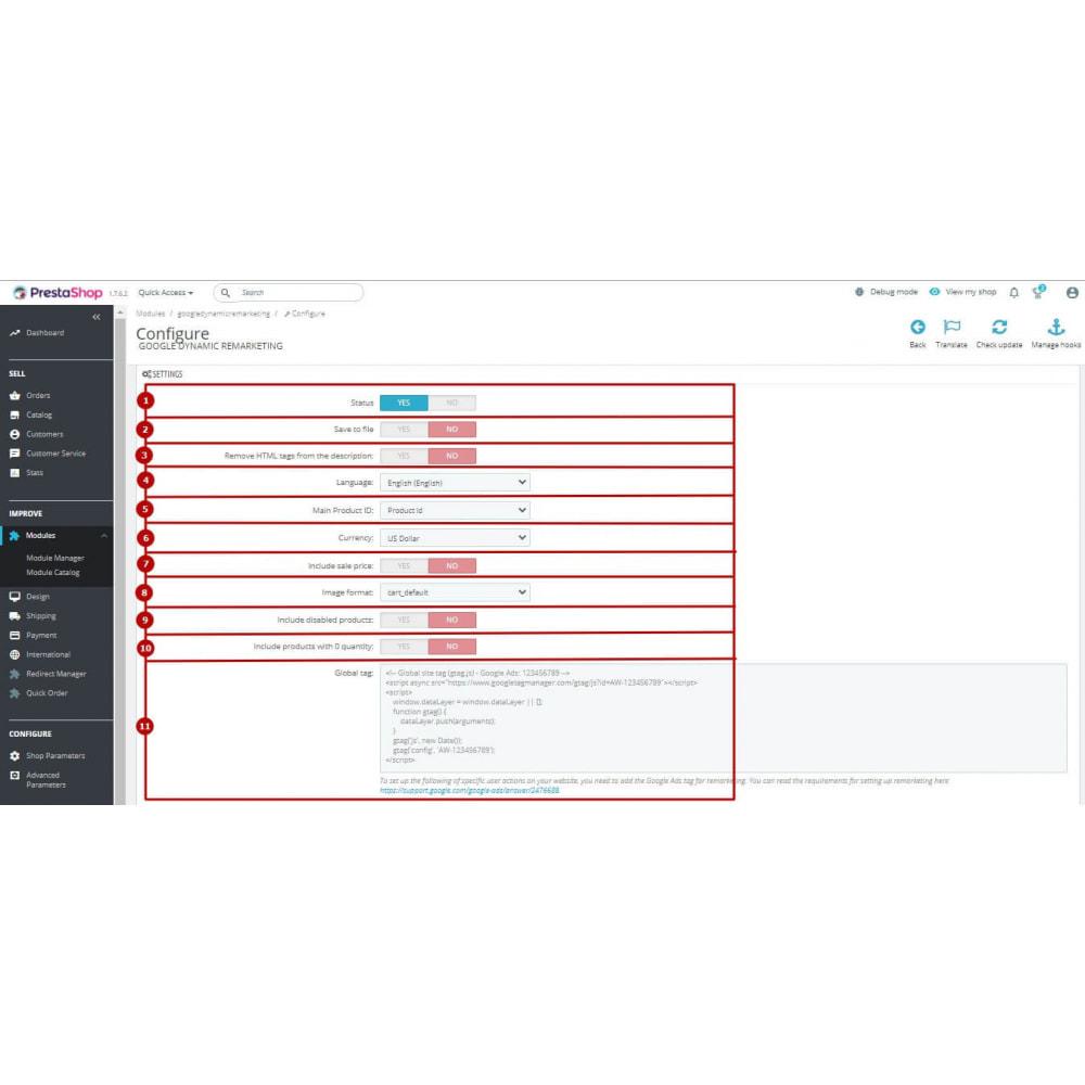 module - Remarketing & Warenkorbabbrüche - Google Dynamic Remarketing (AdWords feed) - 9