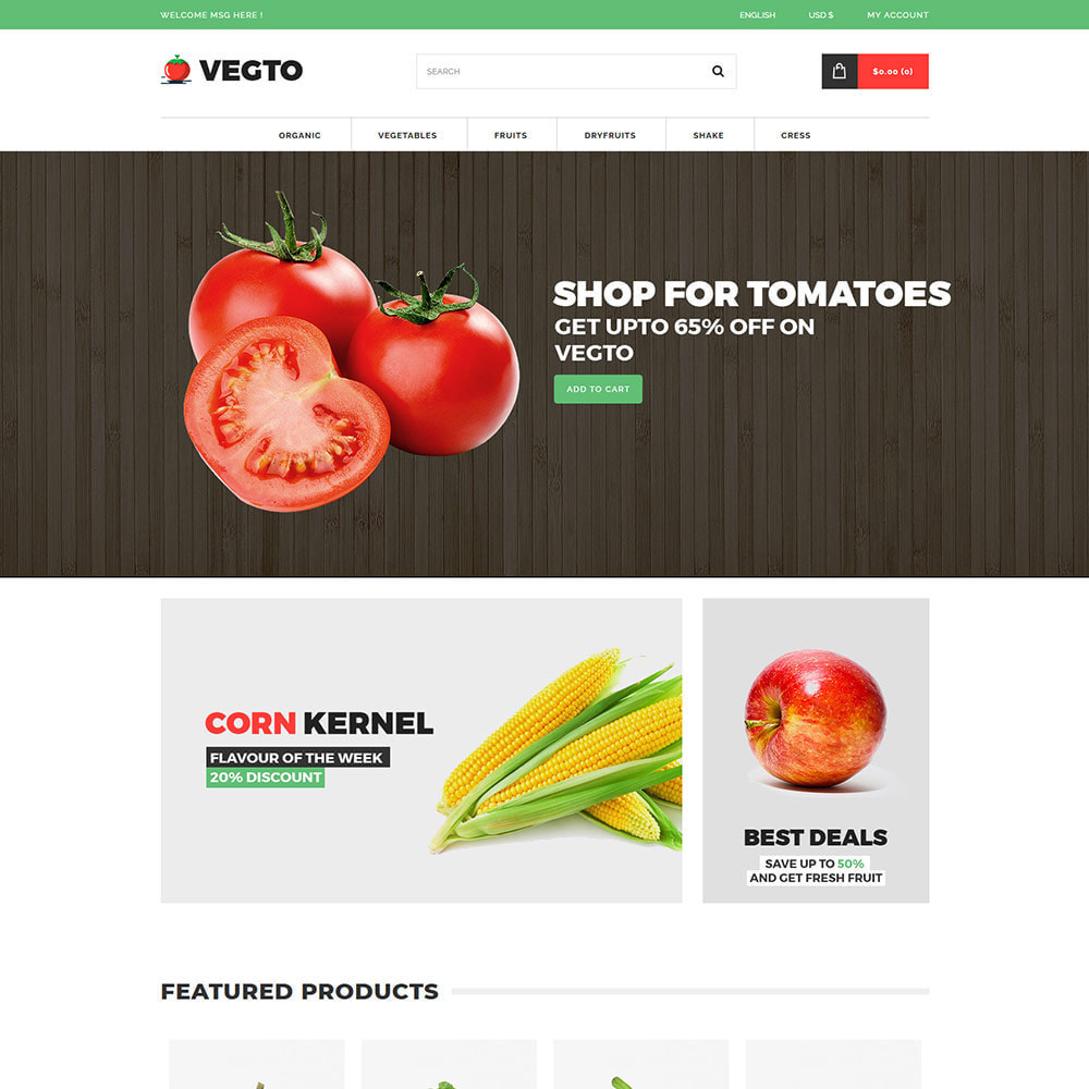 theme - Alimentos & Restaurantes - Vegitable Fruit - Food Grocery Organic Store - 2