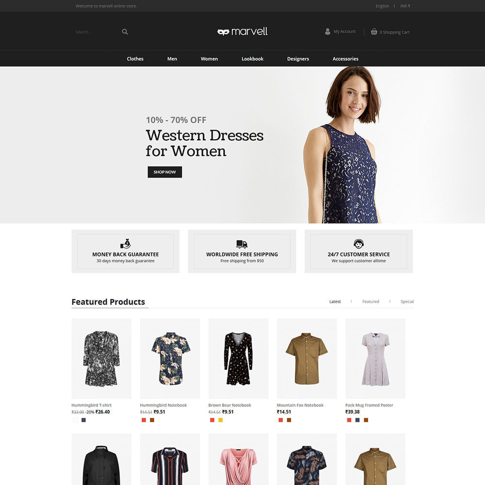 theme - Fashion & Shoes - Clothes  Women - Designer  Fashion Store - 2