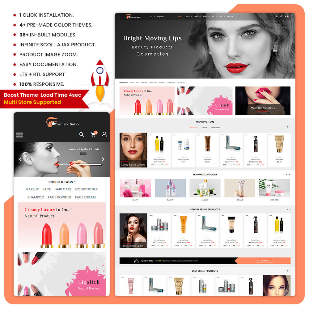 theme - Health & Beauty - Cosmétique–Fash–Cosmetic Store - 1