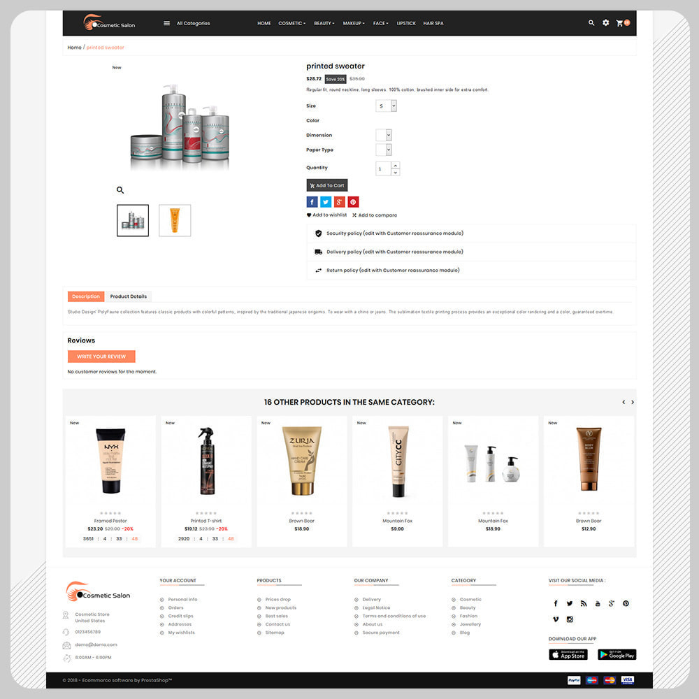 theme - Health & Beauty - Cosmétique–Fash–Cosmetic Store - 4
